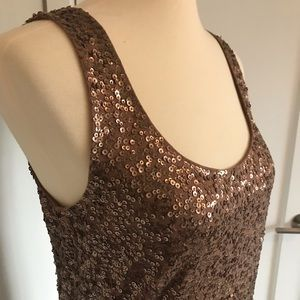 j. crew • sequin tank top •